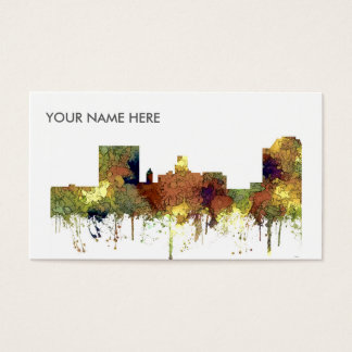 Augusta Georgia Skyline. SG-Safari Buff Business Card
