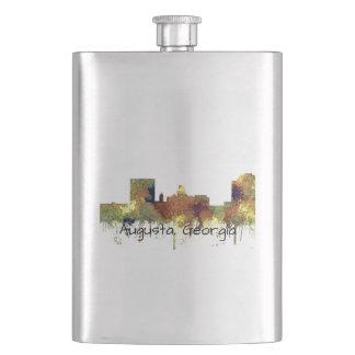 Augusta Georgia Skyline. SG-Safari Buff Hip Flask