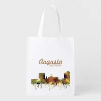 Augusta Georgia Skyline. SG-Safari Buff Reusable Grocery Bag