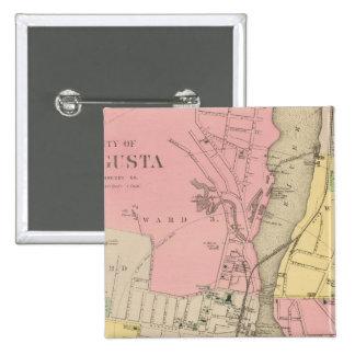 Augusta, Kennebec Co 15 Cm Square Badge