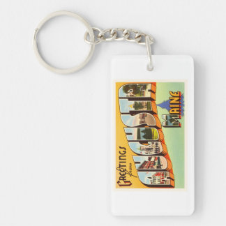 Augusta Maine ME Old Vintage Travel Souvenir Key Ring