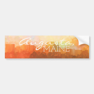 Augusta Maine Skyline IN CLOUDS Bumper Sticker