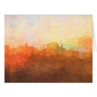 Augusta Maine Skyline IN CLOUDS Card