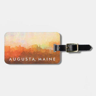 Augusta Maine Skyline IN CLOUDS Luggage Tag