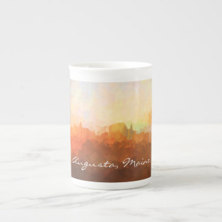 Augusta Maine Skyline IN CLOUDS Tea Cup