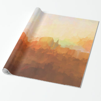 Augusta Maine Skyline IN CLOUDS Wrapping Paper