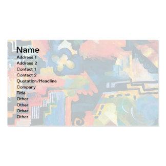 Auguste Macke - Homage to Johann Sebastian Bach Business Card Templates