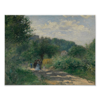 Auguste Renoir - A Road in Louveciennes Poster