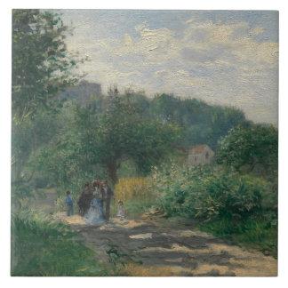 Auguste Renoir - A Road in Louveciennes Tile