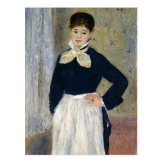 Auguste Renoir A Waitress at Duvals Restaurant Postcard