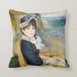 Auguste Renoir By the Seashore Throw Pillow