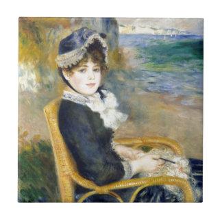 Auguste Renoir By the Seashore Tile