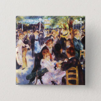 Auguste Renoir - Dance at Le moulin de la Galette 15 Cm Square Badge