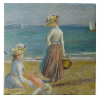 Auguste Renoir - Figures on the Beach Tile