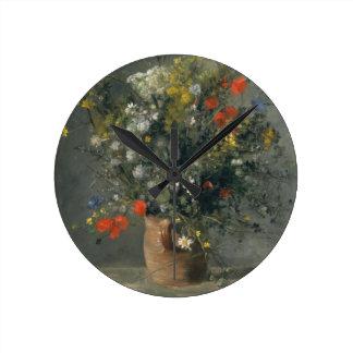 Auguste Renoir - Flowers in a Vase Wallclocks