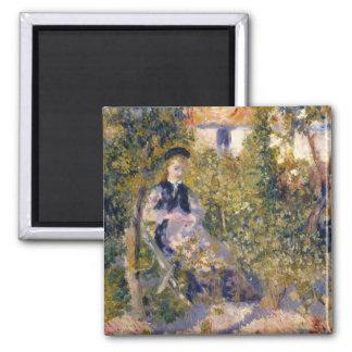 Auguste Renoir Nini in the Garden Magnet
