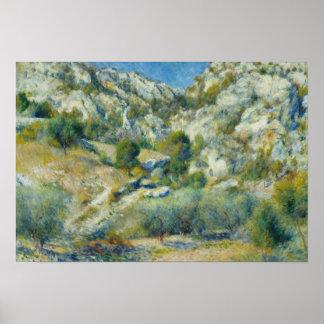 Auguste Renoir - Rocky Crags at L'Estaque Poster