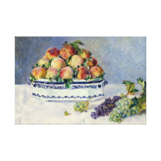 Auguste Renoir -Still Life with Peaches and Grapes Canvas Print