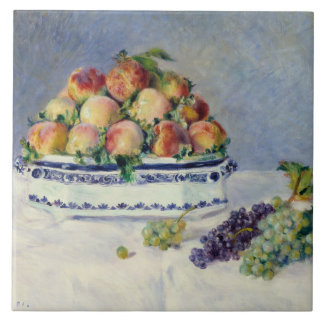 Auguste Renoir -Still Life with Peaches and Grapes Ceramic Tile