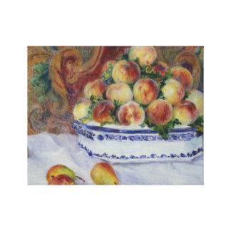Auguste Renoir - Still Life with Peaches Canvas Print