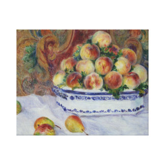 Auguste Renoir - Still Life with Peaches Canvas Print