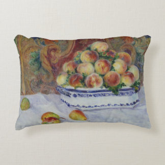 Auguste Renoir - Still Life with Peaches Decorative Cushion