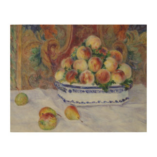 Auguste Renoir - Still Life with Peaches Wood Wall Art