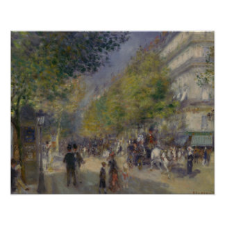 Auguste Renoir - The Grands Boulevards Poster
