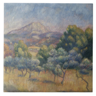 Auguste Renoir - The Sainte-Victoire Mountain Ceramic Tile