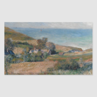 Auguste Renoir - View of the Seacoast Rectangular Sticker