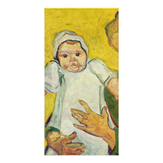 Augustine Roulin with her infant by van Gogh Customized Photo Card