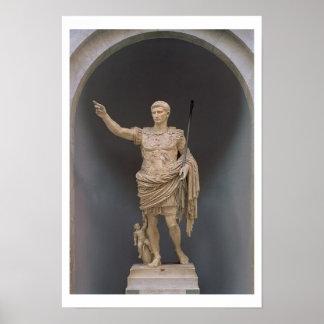 Augustus of Prima Porta, c.20 BC (marble) Poster