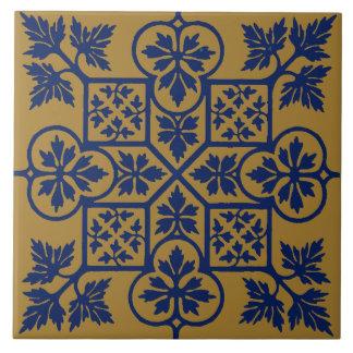 Augustus Pugin Vintage Leaf Pattern Ceramic Tile