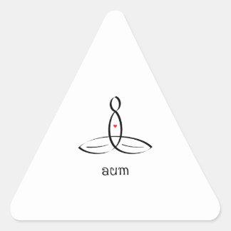 Aum - Black Fancy style Triangle Stickers