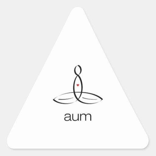 Aum - Black Regular style Stickers