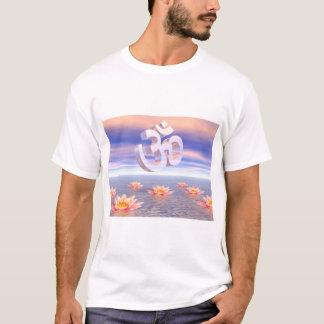 Aum - om upon waterlilies - 3D render T-Shirt