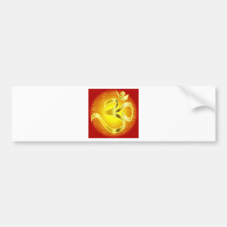 Aum or Om Symbol in yellows & reds Bumper Sticker