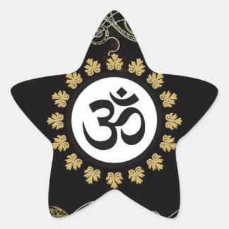 Aum Symbol Mantra Meditation Black and Gold Stickers