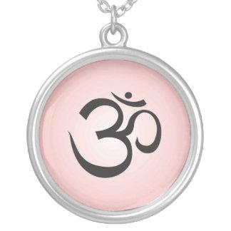 Aum Symbol Necklace - Pink