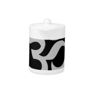 Aum Symbol, Silver and Black