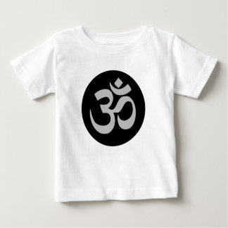 Aum Symbol, Silver and Black Baby T-Shirt