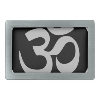 Aum Symbol, Silver and Black Belt Buckles