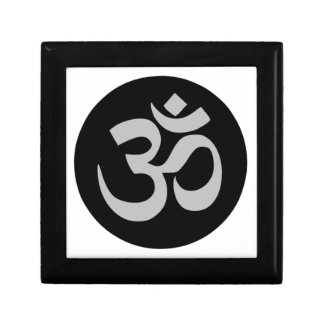Aum Symbol, Silver and Black Gift Box