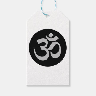 Aum Symbol, Silver and Black Gift Tags