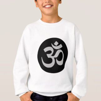 Aum Symbol, Silver and Black Sweatshirt