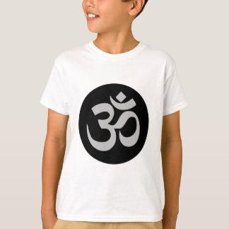 Aum Symbol, Silver and Black T-Shirt