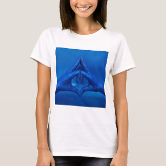 Aum Third Eye Chakra Mudra Glitter Hands T-Shirt