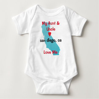 Aunt and Uncle Baby Clothes-My Uncle and Aunt Love Baby Bodysuit