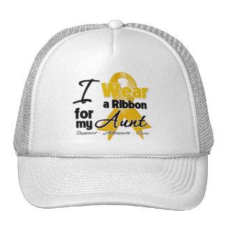 Aunt - Appendix Cancer Ribbon Mesh Hats