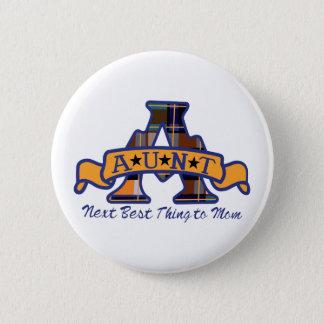 Aunt Applique 6 Cm Round Badge